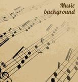 Fondo abstracto de la música Fotografía de archivo