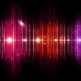 Fondo abstracto de la música del equalizador Fotografía de archivo