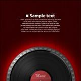 Fondo abstracto de la música Disco del vinilo ilustración del vector