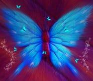 Fondo abstracto de la mariposa Imagenes de archivo