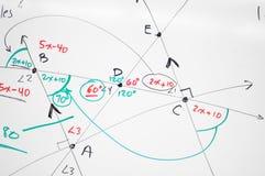 Fondo abstracto de la matemáticas fotos de archivo
