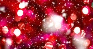 Fondo abstracto de la Navidad almacen de metraje de vídeo