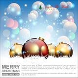 Fondo abstracto de la Navidad Bolas y concepto de la Navidad Vector y ejemplo, EPS 10 Foto de archivo libre de regalías