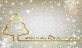 Fondo abstracto de la Navidad con el árbol de navidad y la Navidad Fotos de archivo libres de regalías