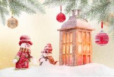 Fondo abstracto de la Navidad con el brillo antern stock de ilustración