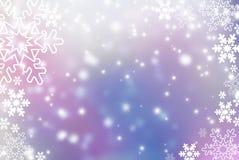 Fondo abstracto de la Navidad con el copo de nieve Imagenes de archivo