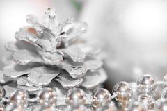 Fondo abstracto de la Navidad con el foco suave Siluetas del si Fotografía de archivo libre de regalías