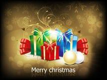 Fondo abstracto de la Navidad con el rectángulo del girft libre illustration