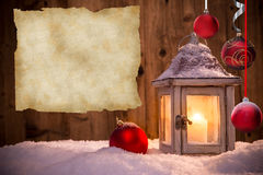 Fondo abstracto de la Navidad con la linterna stock de ilustración