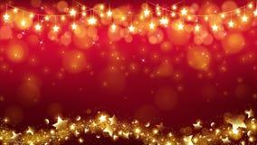 Fondo abstracto de la Navidad con las estrellas que brillan intensamente ilustración del vector