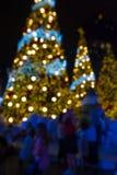 Fondo abstracto de la Navidad con las luces Imágenes de archivo libres de regalías