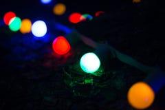 Fondo abstracto de la Navidad con las luces Defocused Imagen de archivo libre de regalías