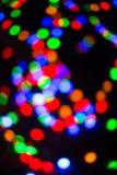Fondo abstracto de la Navidad con las luces Defocused Imagenes de archivo
