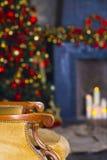 Fondo abstracto de la Navidad con las luces Defocused Fotografía de archivo libre de regalías
