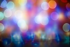 Fondo abstracto de la Navidad con las luces del bokeh Fotografía de archivo libre de regalías