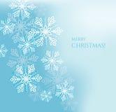 Fondo abstracto de la Navidad con los copos de nieve Fotos de archivo