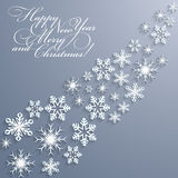 Fondo abstracto de la Navidad con los copos de nieve Imágenes de archivo libres de regalías