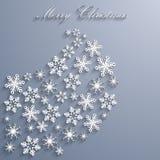 Fondo abstracto de la Navidad con los copos de nieve Imagen de archivo libre de regalías