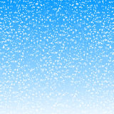 Fondo abstracto de la Navidad con los copos de nieve Fotos de archivo libres de regalías