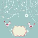 Tarjeta del invierno Imagen de archivo libre de regalías
