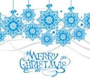 Fondo abstracto de la Navidad de los copos de nieve Imagenes de archivo