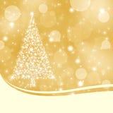 Fondo abstracto de la Navidad del oro libre illustration