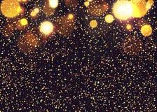 Fondo abstracto de la Navidad Nieve que vuela en el fondo de ilustración del vector