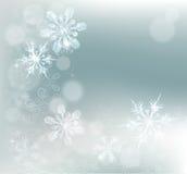 Fondo abstracto de la nieve de los copos de nieve Foto de archivo