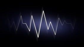 Fondo abstracto de la onda con los efectos de neón Fotografía de archivo