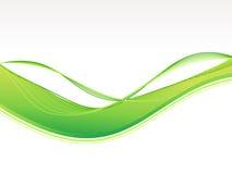 Fondo abstracto de la onda verde Imágenes de archivo libres de regalías