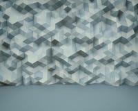 Fondo abstracto de la pared 3D del polígono stock de ilustración