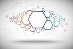 Fondo abstracto de la pendiente hexagonal de las células Foto de archivo