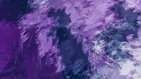 Fondo abstracto de la pintura al óleo Acuarela en textura de la lona Textura del color Fragmento de las ilustraciones Pinceladas  stock de ilustración