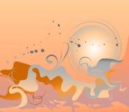 Fondo abstracto de la puesta del sol Imagen de archivo libre de regalías