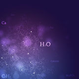 Fondo abstracto de la química Fotografía de archivo libre de regalías