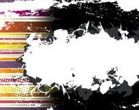 Fondo abstracto de la raya de Grunge Imagenes de archivo