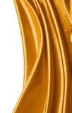 Fondo abstracto de la seda del oro Fotografía de archivo