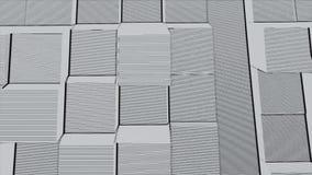 Fondo abstracto de la superficie geométrica blanca fondo inconsútil generado por ordenador del movimiento del extracto del lazo almacen de metraje de vídeo