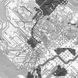 Fondo abstracto de la tarjeta de circuitos en estilo de alta tecnología Fotos de archivo libres de regalías