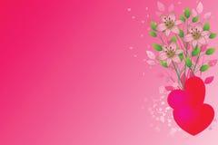 Fondo abstracto de la tarjeta del día de San Valentín Imagen de archivo libre de regalías
