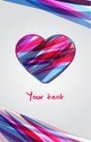 Fondo abstracto de la tarjeta del día de San Valentín stock de ilustración