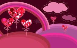 Fondo abstracto de la tarjeta del día de San Valentín Foto de archivo libre de regalías