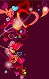 Fondo abstracto de la tarjeta del día de San Valentín Imagen de archivo