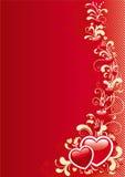 Fondo abstracto de la tarjeta del día de San Valentín Fotos de archivo libres de regalías