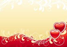 Fondo abstracto de la tarjeta del día de San Valentín Imagenes de archivo