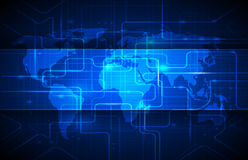 Fondo abstracto de la tecnología