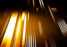 Fondo abstracto de la tecnología con las rayas que brillan intensamente ilustración del vector
