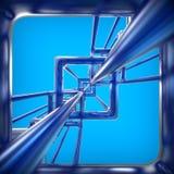 Fondo abstracto de la tecnología 3D Imagen de archivo libre de regalías