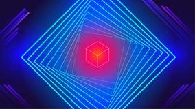 Fondo abstracto de la tecnología de danza de los elementos electrónicos geométricos de la música libre illustration