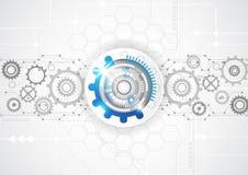 Fondo abstracto de la tecnología de la ingeniería del vector, ejemplo Fotografía de archivo libre de regalías